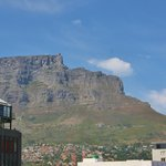 View of Table Mountain from our floor window