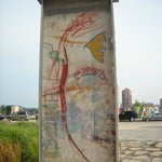 Part of the Berlin Wall within walking distance of park