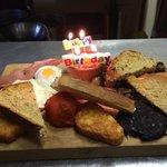 A full English Birthday Breakfast