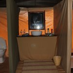 Our tent bathroom!
