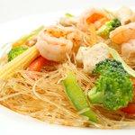 Fideos de Soja con Langostinos y Verduras / Glass Noodles with prawns and vegetables
