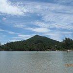 Lago salgado na prai de Ibiraquera