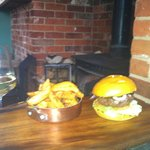 A must to try Venison and Stilton burger with the best chips