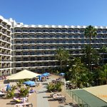 The hotel from the sundeck area