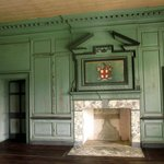 Fireplace in the reception room