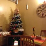 Breakfast Dining Room Decorated for Holidays