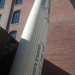 The signature Louisville Slugger outside