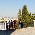 Hava explaining this site above where is believed Jesus had THE LAST SUPPER