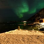 The Northern lights (stood on our Jetty)
