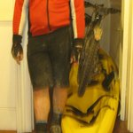 The rider after 3 wet days in October