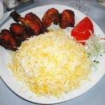 Coquelet tandoori & son riz au safran