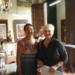 With Martha Jiminez