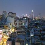 rooftop bar view over saigon