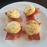 ham biscuits for breakfast--perfect