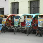 Pedicabs - what fun for touring the town!