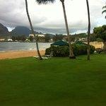 Resort's beach area