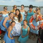 The stunning bridesmaids - all of whom are Jersey Girls!