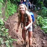 Hiking through mud :)