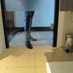bath room door, i.e. no privacy