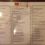 The menu (Nov. 2013)