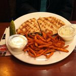 Capresi Chicken Panini Special with Sweet Potato Fries