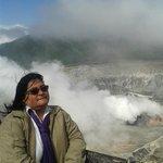 En el volcan Arenal