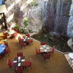 Waterfall in one of the dining rooms