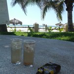 Cocktails, cuban cigars and a gorgeous view of the beach