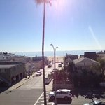 View from roof top deck.  One block from the beach