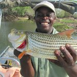 Donald with the 7 lbs. Tiger Fish