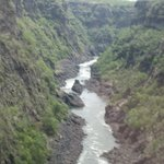 Zambezi River Gorge below the falls.