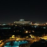 Night view from the Executive Club lounge and some of the rooms