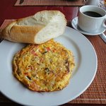 Delicious bread with omelet