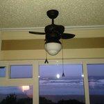 Interesting little ceiling fan in rooms