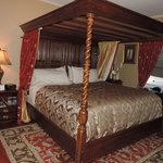 The Tudor Room on the third floor. King-sized, canopy bed.