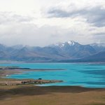 Lake Tekapo, from nearby Mt. John
