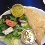 Spankopitka (spinach pie) with a small Greek salad