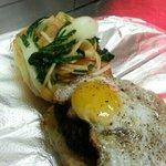 slider w fried quail egg