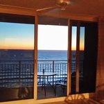 Sunset from inside room