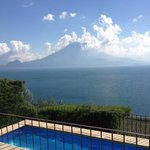 View from Lomas : Lake Atitlan and its volcanos