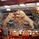 Decoración dentro del restaurante