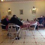 Inside dining room.