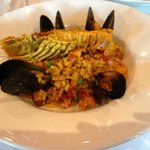 Seafood paella for 1