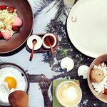 Superb delicious desserts. BBQ berry, bali breakfast and monkey bussiness