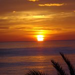 Sonnenaufgang vom Balkon aus gesehen