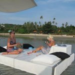 Capris- floating beds surrounding the floating bar