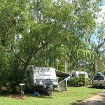 The lushgardens make an ideal backdrop to park your van