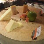 Breakfast, cheese platter.
