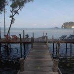 Dock at high tide