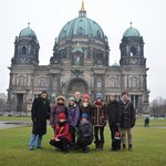 Our group in front of the Berliner Dom.